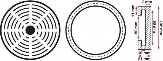 Gummiteller für Hebebühnen 100 mm (4 Stück) 2