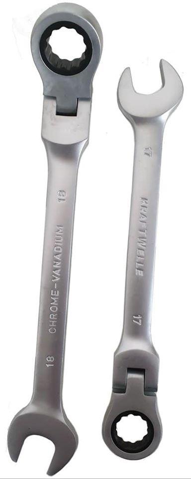 Klappbarer Ratschenschlüsselring Ratschenschlüssel-Mundwerkzeugsatz 8-30 mm 2