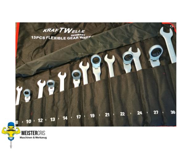 Klappbarer Ratschenschlüsselring Ratschenschlüssel-Mundwerkzeugsatz 8-30 mm 1