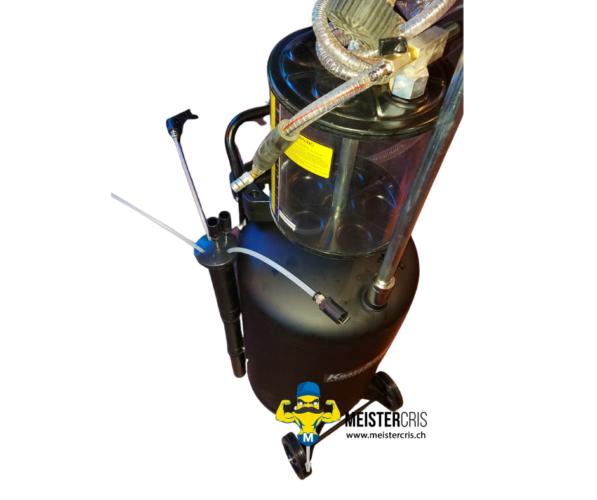 Ölablassgerät Ölablasswanne Ölauffangbehälter mit Druckluft 5